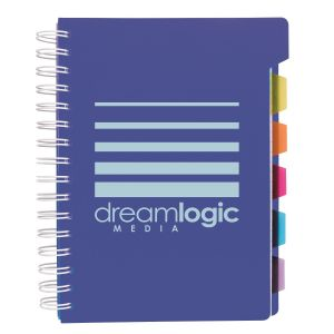 Reasonable Priced Spiral Custom Notebook w/ Tabs Best Print Factory
