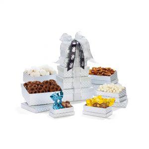 Top Print Sweets & Snacks Gourmet Tower Custom Food Gift Box Online