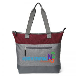 "Textured Two-Tone Metro Custom Tote Bag - 18""w x 15""h x 4""d"