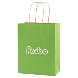 "Purchase in Bulk Tinted Kraft Finish Promotional Shopping Bag - 8""w x 10.5""h x 4.75""d Dependable Print Company"