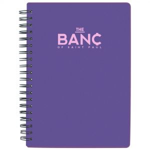 """Cheap Translucent Lined Spiral Custom Notebook - 5""""w x 7""""h Best Printing Store"""