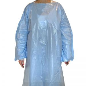 Wholesale T-Style PE Disposable Gown - Blank At Low Offer