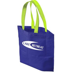 """Personalized Two Tone Non-Woven Custom Tote Bag - 20""""w x 13.5""""h x 8""""d Print Manufacturer"""