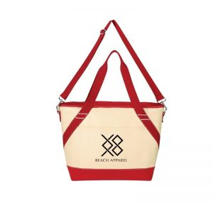 Sales-Priced Two-Tone Canvas Custom Cooler Bag - 24 Can Top Print Store