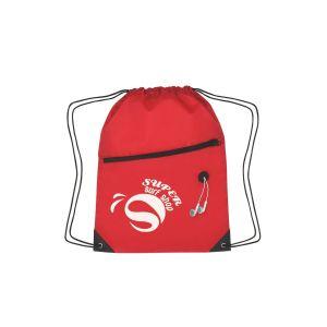 Personalised Two-Tone Custom Drawstring Bag w/ Pocket Best Print Company