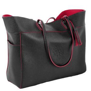 """Dependable Two-Tone Executive Custom Tote Bag - 16.5""""w x 14""""h x 5""""d At Special Offer"""