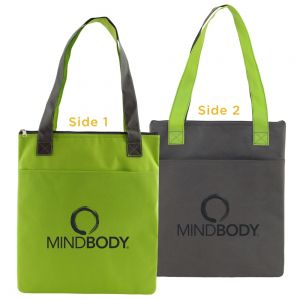 """Buy in Bulk Two-Tone Non-Woven Insulated Custom Tote Bag - 13""""w x 16""""h Best Printing Factory"""