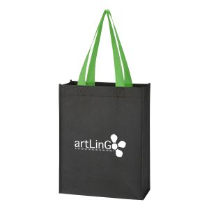 """Purchase Two-Tone Promotional Tote Bag - 9.5""""w x 12""""h x 4.5""""d Printing Supplier"""