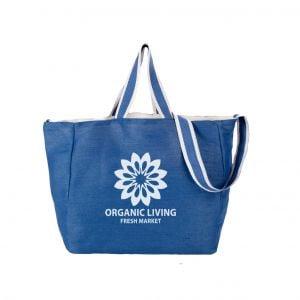 "Cheap Manufacture Two-Tone Strap Custom Tote Bags - 14.5""w x 12.5""h x 7""d Top Print Supplier"