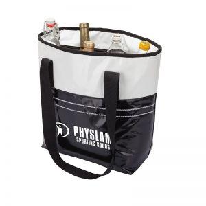 Best Print Two-Tone Water Resistant Custom Cooler Tote Bag - 12 Can Top Printing Store
