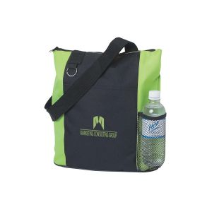 """Dependable Two-Tone Zippered Custom Tote Bag - 14""""w x 14""""h x 5""""d Dependable Print Manufacturer"""