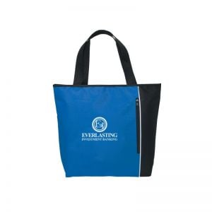 """Personalized Two-Tone Zippered Custom Tote Bag - 19""""w x 15""""h Online shop"""