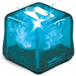 Cheapest Ultra Glow Light-Up Promotional Ice Cubes - Blue w/ Blue LED Best Printing Company