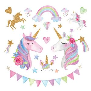 Unicorn Wall Stickers | Baby Nursery Wall Stickers
