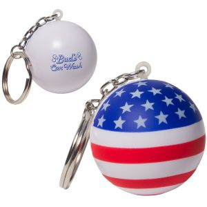 Dependable USA Patriotic Custom Keychain Stress Ball Dependable Printing Manufacturer