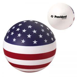 Cheap Produce USA Round Patriotic Custom Stress Ball Best Print Supplier