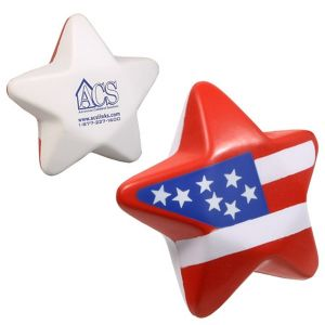 Low Price USA Star Patriotic Custom Stress Ball Best Printing Store