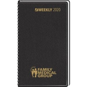 """Personalised Weekly Wire Bound Custom Desk Diary - 5"""" x 8"""" Printing Company"""