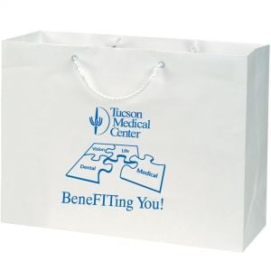 "Best Print White Kraft Promotional Euro Tote Bag - 16""w x 12""h x 6""d Top Printing Supplier"