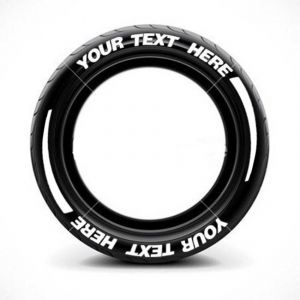 White Letter Tire Stickers | Car Tire Stickers