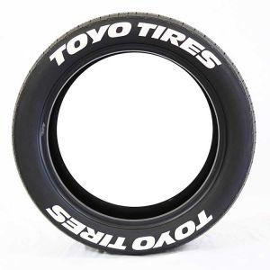 White Tire Lettering | Tire Sticker