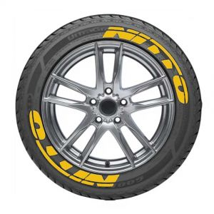 Yellow Tire Lettering Stickers | Tyre Stickers