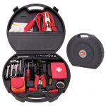 Bargain 151 Piece Emergency Promotional Auto Tool Kit in Tire Shaped ABS Case Best Print Supplier