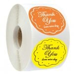 Custom Thank You Stickers | Cheap Thank You Labels on a Roll | TY017 Ready In Stock