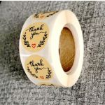 Custom Thank You Stickers | Cheap Thank You Labels on a Roll | TY023 Ready In Stock