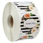 Custom Thank You Stickers | Cheap Thank You Labels on a Roll | TY030 Ready In Stock