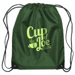 "Top Print Budget Custom Drawstring Bag w/ Reinforced Corners - 14""w x 18""h Top Printing Supplier"