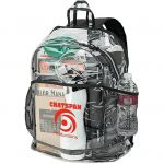 """Economical Print Clear PVC Promotional Backpack - 13""""w x 18""""h x 6""""d Top Printing Manufacturer"""