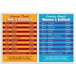 """Dependable Full Color 2-in-1 Team Schedule Custom Magnet - 5.5""""w x 8""""h - 20 mil Top Print Supplier"""