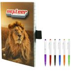 """Purchase in Bulk Full Color Custom Notebook w/Pen- 4""""w x 6""""h Best Printing Company"""