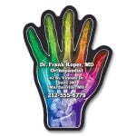 Economical Produce Full Color Specialty Shaped Logo Magnet - Hand - 20 mil Best Printing Supplier