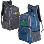 "Order in Bulk Heather Canvas Custom Backpacks - 11.75""w x 17.5""h x 6.5""d Best Printing Company"