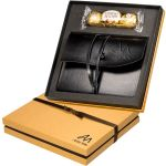 """Low Price LEEMAN NYC Ferrero Rocher Chocolates & Wrapped Promotional Journal Gift Set - 8""""w x 8.5""""h Best Printing Factory"""
