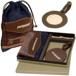 Wholesale LEEMAN NYC Woodbury Golf Tag/Valuables Pouch Promotional Gift Set At Lowest Price