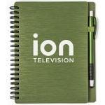 "Best Print Metallic Textured Custom Notebooks w/ Stylus Pen - 5""w x 7""h At Low Offer"