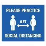 """Cheap Manufacture Rectangle Social Distancing Adhesive Wall Decal - 12"""" x 14"""" - Blank Print Supplier"""