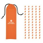 Top Print Reusable Paper Custom Straw w/ Case - Pack of 5 Top Print Manufacturer