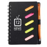Economical Spiral Bound Custom Notebook w/ Sticky Notes & Stylus Pen Dependable Print Supplier