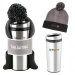 Cheap Manufacture Tailgating Custom Water Bottle & Pom-Pom Beanie Gift Set At Low Offer