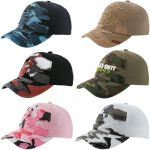 Economical Manufacture Unstructured Embroidered Camouflage Promotional Cap At Lowest Price