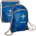 """Economical Manufacture Zip Pouch Custom Drawstring Backpack - 14""""w x 18.5""""h Printing Store"""