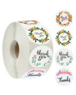 Kraft Thank You Circle Stickers   TY011   Gift Labels