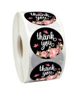 Pink and Gold Thank You Stickers | TY013 | Wedding Sticker Label