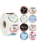 Gold Thank You Circle Decals | TY027 | Thank You Labels for Favors