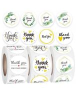 Kraft Thank You Stickers | TY028 | Gift Labels