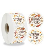 Custom Floral Circle Thank You Round Labels | TY035 | Thank You Label for Favors
